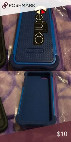 IPhone case for 5 or 5S Defense case for IPhone 5 or 5S navy blue is the protection and royal blue is the hard shell Accessories Phone Cases