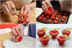 Strawberry Margarita Jello Shots -- for a healthier version, use regular or sugar-free Jello, skip the alcohol, replace sugar with stevia for mixing with lime zest around the edges, and enjoy a cool yummy treat. Fun Drinks, Yummy Drinks, Yummy Food, Tasty, Beverages, Strawberry Margarita Jello Shots, Strawberry Vodka, Deco Fruit, Jello Shot Recipes