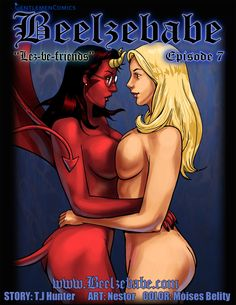 Cumming very soon to the site is Episode 7 of  this FREE daily updating online porn comic with a bit of humor and supernatural flavoring thrown in for good measure! This episode is entitled: Lez-Be-Friends. Find out why on....                    Beelzebabe.com