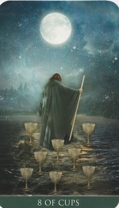 Thelema Tarot Eight 8 of Cups