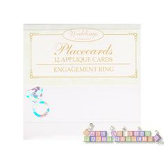 Bridal Shower Diamond Ring Placecards (12ct) || Hard To Find Party Supplies