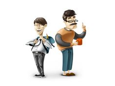 Icons and characters. Part 1 by Andrey Koval, via Behance