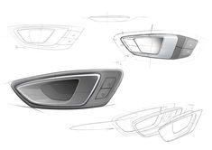 SEAT Leon ST Interior - Door Handle Design Sketches