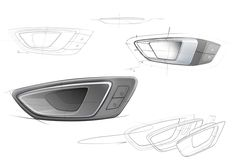 SEAT Leon ST Interior - Door Handle Design Sketches