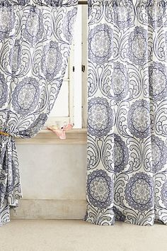 Shimmering Scrollwork Curtain: $119.95–$129.95 | Anthropologie