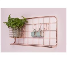 Copper Kitchen Storage Rack