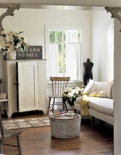 via country living...I love the use of neutrals here--so calming (just what I need).
