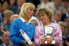 Martina Navratilova, left, and Chris Evert created one of the great rivalries in sports. Credit Getty Images