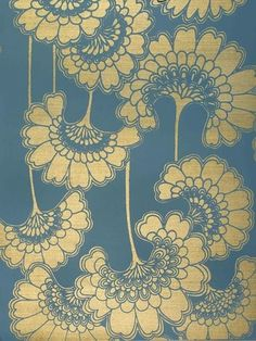 Florence Broadhurt Wallpaper #Japanese #floral #print I am also very interested in Japanese wallpaper patterns