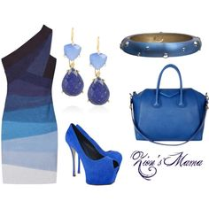 Blue Ombra, created by zionsmama on Polyvore
