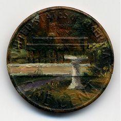 Монетная живопись от Jacqueline Lou Skaggs.