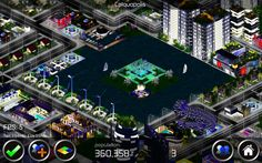 Designer City - Colquopolis city - Stunning seaviews - City Building Game App - Night Time Seaview - Download free for Android and IOS  #coastline #marina #riverlife #cityliving
