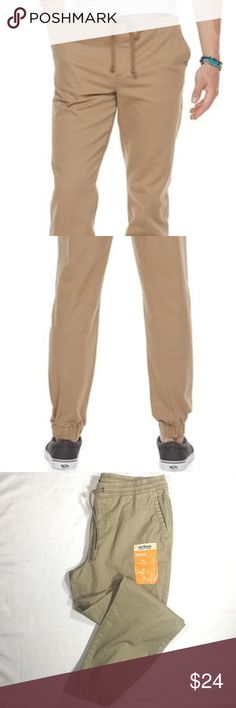 Mens Urban Pipeline MaxFlex Twill Jogger Pants Stretch your horizons. Thanks to their stretch fabric and slim cut, these men's Urban Pipeline jogger pants make both comfort and style top priorities.  PRODUCT FEATURES      Durable MaxFlex stretch fabric allows comfortable movement     Elastic cuffs     4-pocket     Zipper fly  New with tags, Size Large, see pictures for measurements.   OFFERS WELCOME! We package your item thoughtfully & carefully. Items ship in 1 business day. Urban Pipeline…
