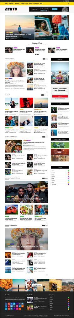 Zento is clean and modern design responsive WordPress theme for #newspaper #blog and #magazine website with 12 different homepage layouts download now..