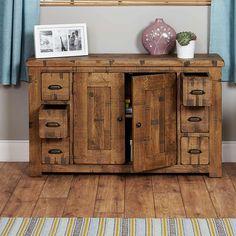 Heyford Rough Sawn Oak 6 Drawer Sideboard -  - Sideboard - baumhaus - Space & Shape - 4
