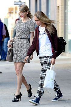Taylor Swift and Cara Delevingne hit the shops in NYC