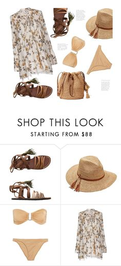 """""""Naturally Goin' to the Beach 😃☀️😎"""" by badassbabyboomer ❤ liked on Polyvore featuring Free People, Scala and Melissa Odabash"""