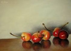 Resultado de imagen para oil painting cherries