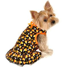 Simply Dog Candy Corn Swirl Dog Dress, Black, (Multiple Sizes Available)