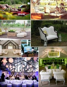 I love how lounge furniture can create wonderful, relaxing nooks for your event guests to escape to.