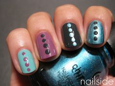 like this look... probably with one base colour and one colour for the dots