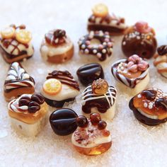 Glass lampwork beads Cakes. Brown, cream and orange colors. by MyGlassberry on Etsy https://www.etsy.com/listing/222600831/glass-lampwork-beads-cakes-brown-cream