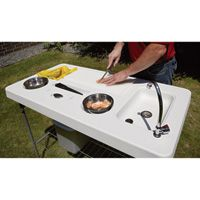 Deluxe Fish Cleaning Camp Table with Faucet and Accessories