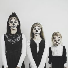 Happy Halloween! If there's ever a time to do a trio photo then today would be the day right? #allthatisthree Huge thank you to @kimmy_mua. If it wasn't for your amazing skills tonight the girls and I would have probably looked like we'd had an argument with the green face paint and lost. So thank you!