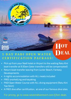 Let go and dive into paradise! Hot deal this month is brought to you by the Famours Ratu Kini Dive Resort Fiji.