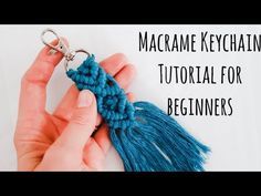 macrame/macrame anleitung+macrame diy/macrame wall hanging/macrame plant hanger/macrame knots+macrame schlüsselanhänger+macrame blumenampel+TWOME I Macrame & Natural Dyer Maker & Educator/MangoAndMore macrame studio Macrame Art, Macrame Projects, Diy Projects, Micro Macrame, Diy Crafts To Do, Cute Crafts, Macrame Youtube, Diy Keychain, Keychains