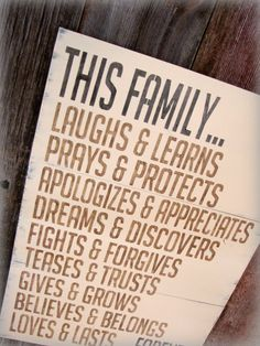 Fights and forgives. Prays and protects. It's a statement, a dream and a goal all rolled in to one.