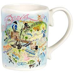Cat Studio Paris Geography Mug : Teaware