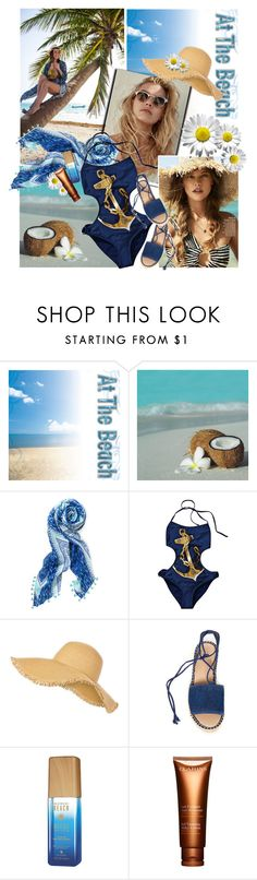 """""""151. At the Beach"""" by milva-bg ❤ liked on Polyvore featuring Stella & Dot, H&M, New Look, Franco Sarto, Alterna and Clarins"""