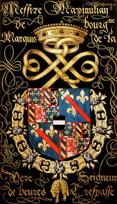 Medieval, Chivalry, Knights Templar, Family Crest, Crests, Banner, Coat Of Arms, 16th Century, Middle Ages