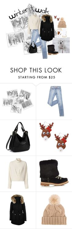 """Winter Walk"" by oliveraelisa ❤ liked on Polyvore featuring claire's, IRO, Montelliana, K100 Karrimor, Loro Piana and UGG"