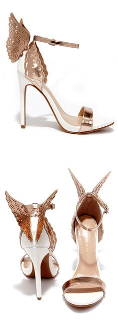 Rose Gold Winged Heels