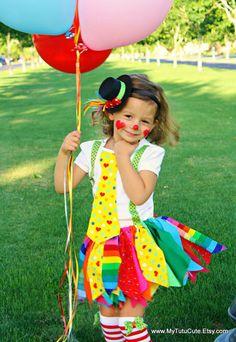 Really Rainbow Fabric Scraps Tutu Skirt MADE TO by mytutucute, tutus, scrappy skirt, clown costume, birthday