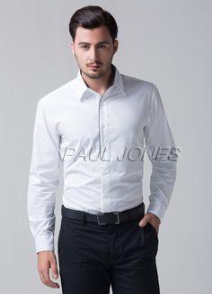2015 Mens Slim Fit Dress Shirts Stylish Casual Shirt Formal Tuxedo Style | eBay