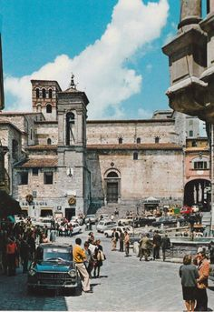 Terni Narni Piazza Garibaldi animata NV  C389