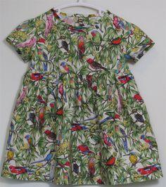 SHOP: Girls Designer Dresses: SerendipityGDDs MATILDA dress for girls aged Australian bird fabric dress for sale: Little Girl Dresses, Girls Dresses, Girls Designer Dresses, Fabric Birds, Matilda, Dresses For Sale, Dresser, Men Casual, High Neck Dress