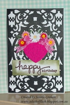 Quilled birthday card (OD)