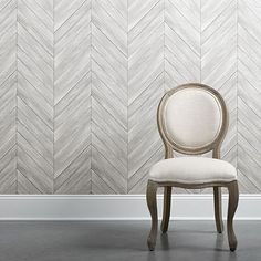 Lieblich Herringbone Wood Wallpaper In Dove
