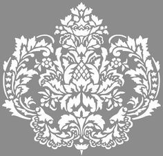 Perfect for bedroom stencil