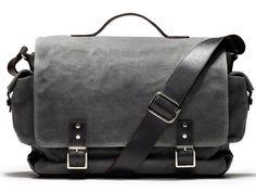 Hudson Charcoal Wax Messenger Bag