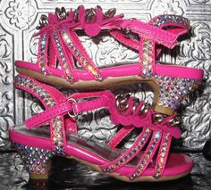 Toddler pink tiny heels, ideal for dress up, pageants, parties, etc.~ by STEAMHATTER on Etsy
