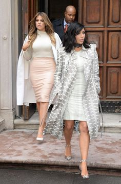Pin for Later: Can't-Miss Celebrity Pics!  Kim and Khloe Kardashian stepped out together on Tuesday in NYC.