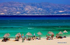Golden Beach on Chrissi island - Ierapetra, Lasithi Crete Island, Greece Islands, Most Beautiful Greek Island, Beautiful Places, Greece Honeymoon, One Day Tour, Crete Greece, Day Tours, Wonders Of The World
