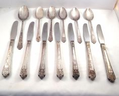 Rogers Precious Pattern Silverware Flatware  Silverplate 13 Pieces Knives Spoons #OriginalRogers