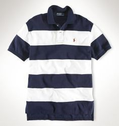 Men's Ralph Lauren Polo Classic-Fit Striped In Dark Black,#polo shirts,#polo,#polo t-shirts