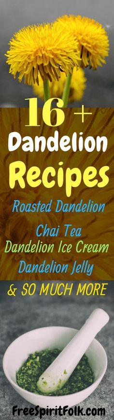 16+ Dandelion Recipes - Dandelion Ice Cream, Jelly, Chai Tea & More